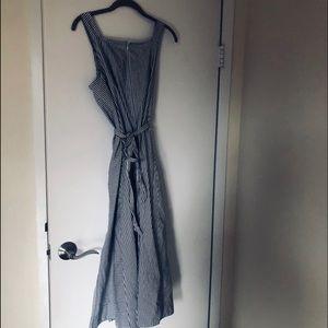 Madewell stripes whit and black maxi dress sz 10